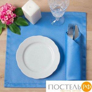 """Набор салфеток """"Этель"""" однотонный 32*32 - 4 шт, цв.голубой, пл. 192 г/м2, хл с ГМО   2387080"""