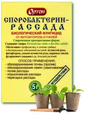 Х Споробактерин 5гр фитофтор и гниль на рассаде 1/100