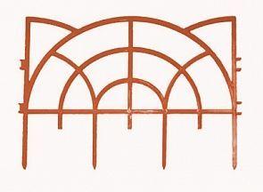 Заборчик Роккоко 3м (7шт h23) красный ажурный