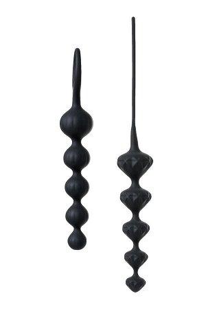 Набор анальных цепочек Satisfyer Beads, силикон, черный