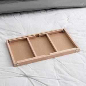 """Столик для завтрака """"Ренессанс"""", 50 х 30 см, массив ясеня, цвет некрашеный"""