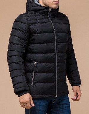 Мужская куртка качественного пошива черная модель 15181