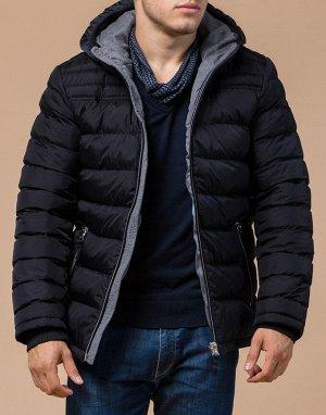 Сине-черная куртка стильного дизайна модель 15181