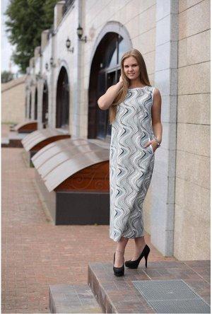 Платье Рисунок Бусы