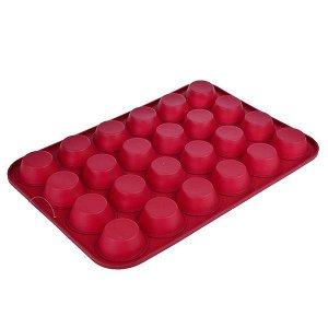 Форма силиконовая для булочек, 24 ячейки