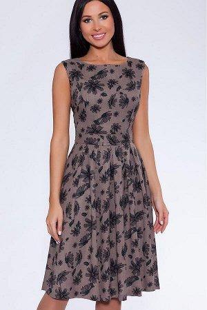 #71016 Платье (ТРиКа) Серо-коричневый