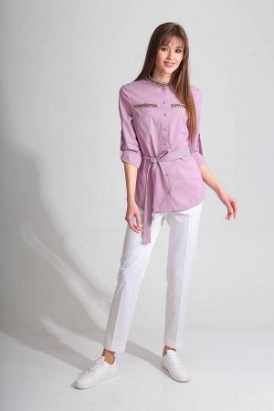 Рубашка Рубашка Golden Valley 2202 №3  Состав ткани: Вискоза-64%; ПЭ-34%; Спандекс-2%;  Рост: 170 см.  Блузка с центральной застежкой на петли и пуговицы, втачным воротником - стойкой. По переду с на