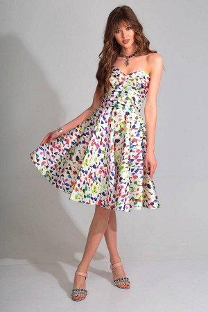 Платье Платье Golden Valley 4264 №2  Состав ткани: ПЭ-100%;  Рост: 170 см.  Платье отрезное по линии талии, с V – образным вырезом горловины переда. По лифу переда два рельефных шва. Две драпир