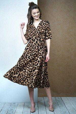 Платье Фантазия Мод 3387 коричневое
