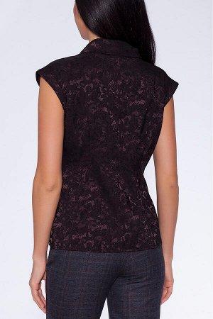 Блузка Темно-коричневый
