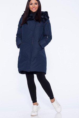 #40981 Пальто Темно-синий