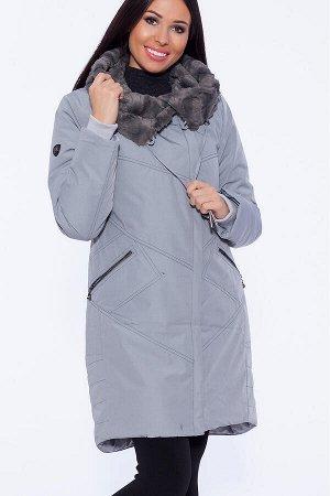 #40978 Пальто Светло-серый