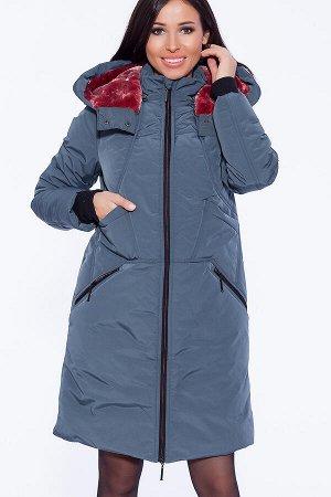 #39816 Пальто Сине-зеленый