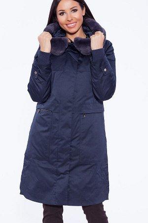 #39387 Пальто Темно-синий