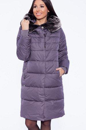 #39360 Пуховик Серо-фиолетовый
