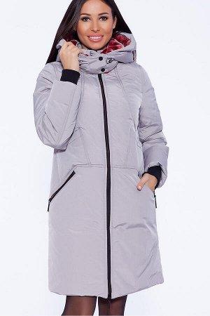 #39282 Пальто Светло-серый