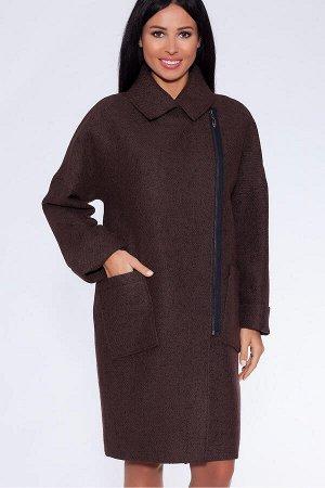#16674 Пальто Коричневый