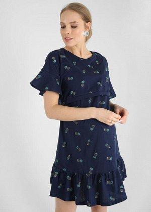 """Платье """"Килисса"""" для беременных и кормящих; цвет: синий"""