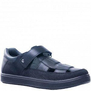 Чёрные туфли для мальчика (размер 38-39)
