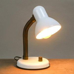 Лампа настольная Е27. светорегулятор (220В) белая 34х14х14