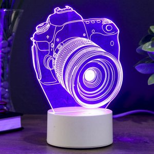 "Светильник ""Фотоаппарат"" LED RGB от сети 9.5х12х17см"
