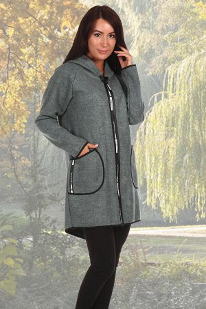 Пальто Бренд: Натали Ткань: эко-кашемир Состав: акрил 70%, шерсть 30% Пальто укороченной модели, свободного кроя на молнии с капюшоном, хорошо сохраняет тепло, не мнётся, удобно в носке