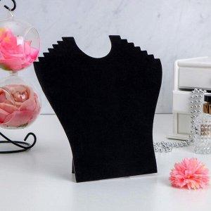 Бюст для украшений, 19*7*28 см, h=28см, цвет чёрный