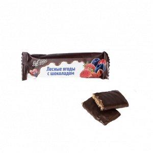 """Батончик """"La Conte de fess"""" Лесная ягода  с шоколадом, 30г."""