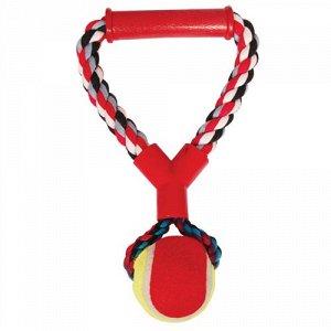 Triol Игрушка д/соб Веревочная цветная ручка мяч 180-190гр 0105XJ 10'' (1/1)