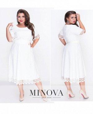 Платье №18-31-молочный