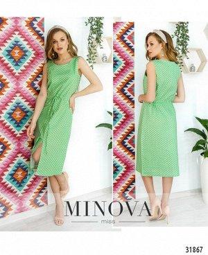 Платье №16451-зеленый