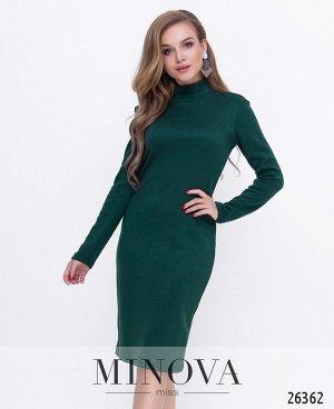 Платье №8591-темно-зеленый