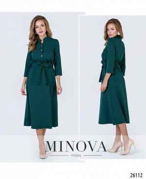 Платье №4092-темно-зеленый