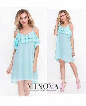 Платье №8582-ментол