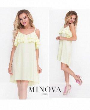 Платье №8582-желтый