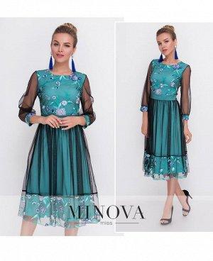 Платье №1090-мята