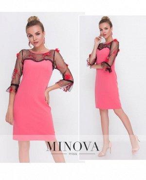 Платье №1087-корал