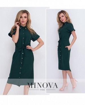 Платье №4081-темно-зеленый