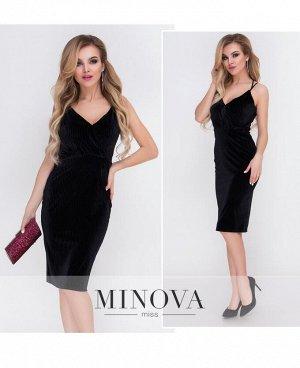 Платье №1084-черный