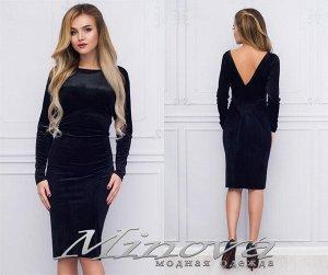 Платье №1022 (черный)