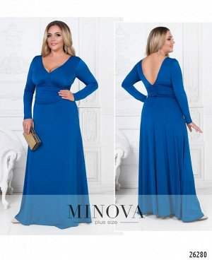 Платье №447А-синий