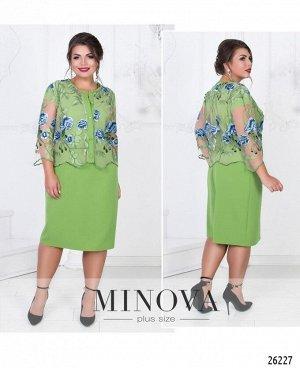Платье №327-зеленый