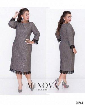 Платье №18-41-бежево-серый