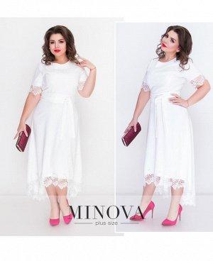 Платье №17-077-белый