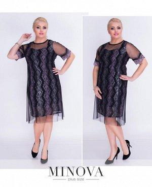 Платье №00272-черный