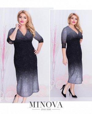 Платье №00259-2-серебро