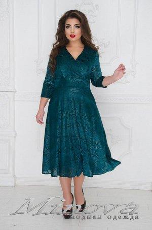 Платье №253-зеленый