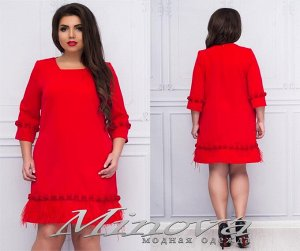 Платье №035б (красный)