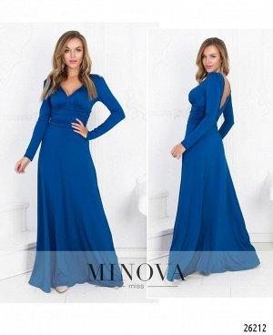 Платье №447-синий