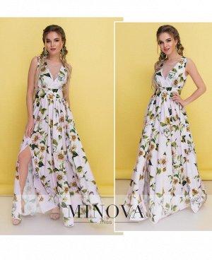 Платье №3094-пудра